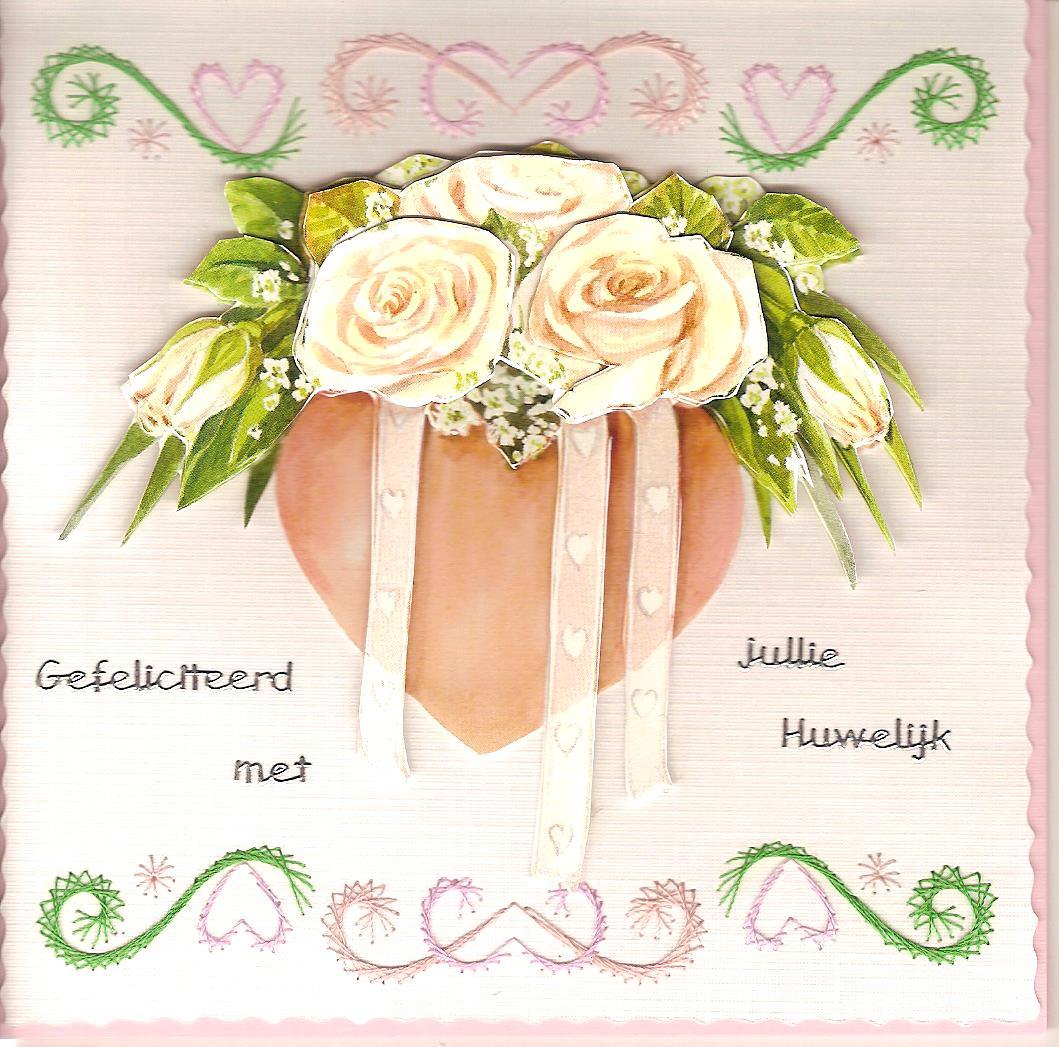 Wenskaart Thema Huwelijk Met Tekst Gefeliciteerd Met Jullie Huwelijk